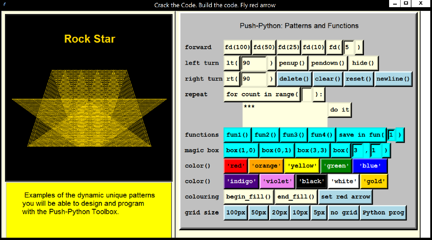 figure 2. Rock Star: A Dynamic Pattern by Translating a Pentagram across the Screen