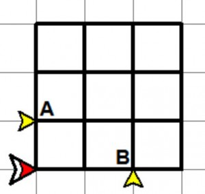 Completed 3x3 grid: 3x3 square and two 3x1 rectangles