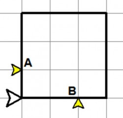 3x3 square with points A, B